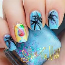 palm tree nails by nailsbycambria on instagram