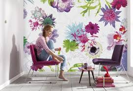 Ideas For Spring Decorating With Flowers On Walls - Wallpaper for homes decorating