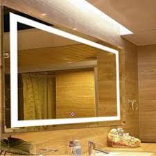 Led Lighted Mirrors Bathrooms How To A Modern Bathroom Mirror With Lights High Rise