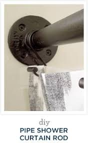 Roll Top Bath Shower Curtain Rail Best 25 Industrial Shower Curtain Rods Ideas On Pinterest
