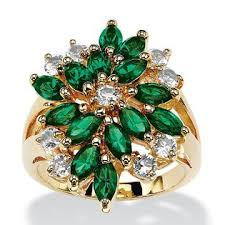 swarovski rings green images Palmbeach jewelry marquise cut emerald green crystal cluster