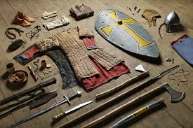 all the stuff soldiers have carried in battle from the 11th