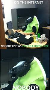 Horse Head Mask Meme - horse head mask meh ro
