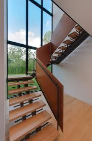 excerpt modern glass stair railing design contemporary metal photo