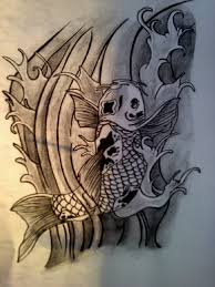 koi fish drawing by synbriscoe on deviantart