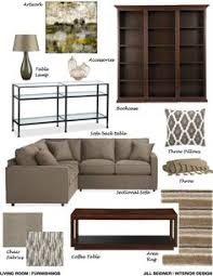 Online Interior Design Help by Simi Valley Ca Residence Family Room Furnishings Concept Board