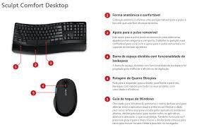 Ms Sculpt Comfort Desktop Kit Teclado E Mouse Sem Fio Microsoft Sculpt Comfort Desktop