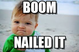 Boom Meme - success kid boom nailed it blank template imgflip