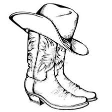 cowboy boots coloring page cowboy boot coloring page free