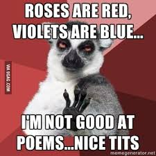 Roses Are Red Violets Are Blue Meme - roses are red violets are blue i m not good at poems ni 9gag
