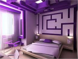 Purple And Gray Bedroom by Home Decor Wall Paint Color Combination Simple False Ceiling