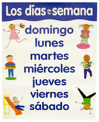 spanish basic skills chart days of the week 020693 details
