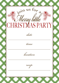 christmas party invitation template free printable christmas party invitation free printable