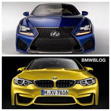 lexus rcf widebody 2015 bmw m4 vs 2015 lexus rc f on the track