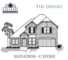 the daylily bluebird meadows new home floor plan burleson texas
