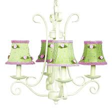 Ivory Chandelier 4 Arm Ivory Harp Chandelier Optional Gingham Shades