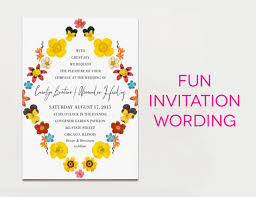 wedding invitation wordings informal wedding invitation wording evening reception informal