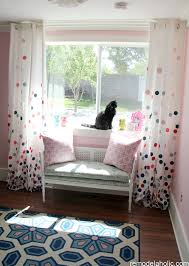 Pink And Navy Curtains Remodelaholic Confetti Drapes Tutorial