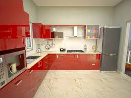 awesome modular kitchen designs red white taste