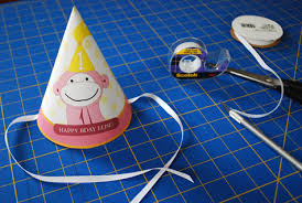 pink monkey printable birthday party hat for kids merriment design