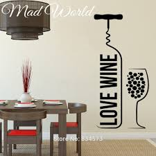 popular wine wall murals buy cheap wine wall murals lots from mad world love wine bottle wine glass wall art stickers decal home diy decoration wall