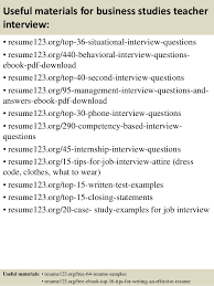 Examples Of Teachers Resumes by Top 8 Business Studies Teacher Resume Samples