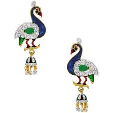 peacock design earrings peacock earrings by spargz aier 151 earrings homeshop18