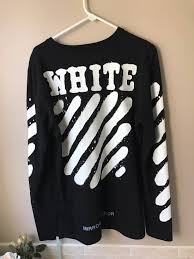 off white off white spray paint long sleeve size m long sleeve t