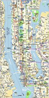 map of nyc streets editable manhattan map with subways illustrator pdf