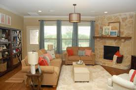 Nice Room Layout Living Room Pleasant Stone Fireplace Nice Brown Varnished Wood