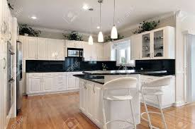 Luxury Modern Kitchen Designs Charming White Floating Wood Cabinet Double Built In Oven Painted