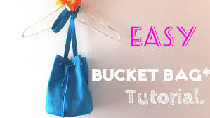 diy how to make bucket bag easy tutorial youtube