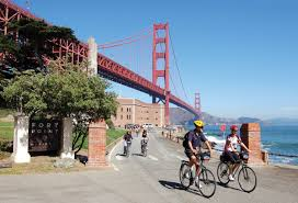San Francisco Downtown Map by Bikes Bike Rides In Sf San Francisco Bike Ride Walking Map