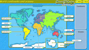 Map With Oceans Label The Continents And Oceans Of The World Youtube