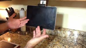 review of belkin tablet kitchen mount for the ipad 2 kindle fire