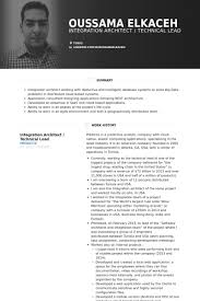 Technical Architect Sample Resume by Architect Resume Samples Visualcv Resume Samples Database