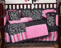 cheap baby bedding for girls pink and black crib bedding baby bedding set for black and
