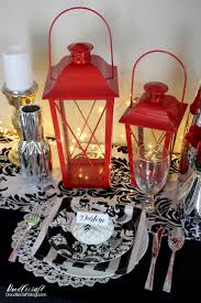 doodlecraft diy wedding classic red centerpieces and