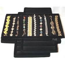 black bracelet box images 12 10 slot black bracelet jewelry box display tray insert liners jpg