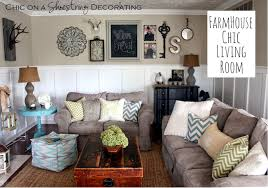 Town And Country Living by Chic On A Shoestring Decorating My Farmhouse Chic Living Room Reveal