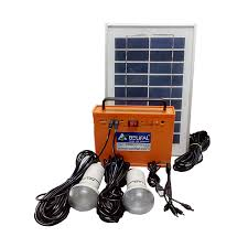 Solar Home Lighting System - 12v dc solar home lighting system with cool breeze fan