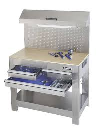 workbench with pegboard and light trends stainless steel work bench home designs