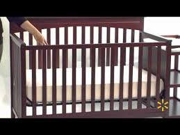 graco woodbridge cherry 2 in 1 fixed side crib and changer combo