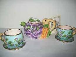 bunny tea set bunny teapot child teaset silvestri whispering garden collection