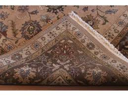 Light Colored Tapestry 10 U0027 X 14 U0027 Persian Floral Rug Light Brown Taupe Tan Blue Gray