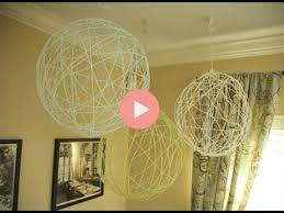 Party Chandelier Decoration Diy Yarn Chandeliers For Party Decor Youtube
