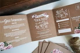 rustic wedding invitation rose