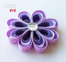 ribbon hair clip 3 loopy flower hair ribbon flower hair hair wear u