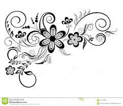 floral design element with swirls stock illustration image 24772489