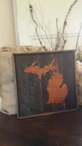 wood home state sign rustic sign rustic home decor wall decor